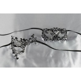 Black lace masks Uomo Phantom