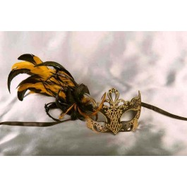 Vanity Gold - Luxury Feathered Venetian Ball Masks for Women | 3 Colours Available