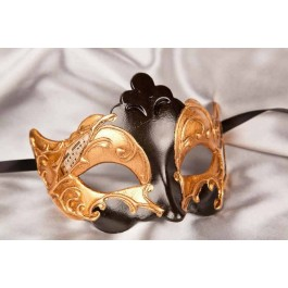 Black Giglio Gold - Gold Leaf and Music Note Detail Masks