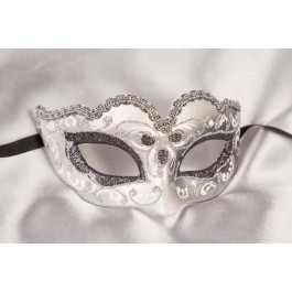 Small masquerade mask Baby Silver in black