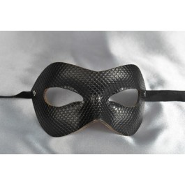 Mystery - Black Leather Masks for Men and Women