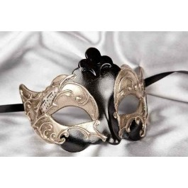 Black Giglio Silver - Silver Leaf and Music Note Detail Masks
