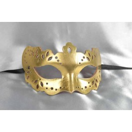 gold leather ball mask