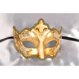 gold and musical masquerade ball mask - Giglio Melody