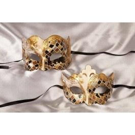 Gold his and hers masks