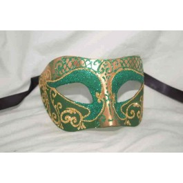 Green Colombina Settecento Brill Gold - The Best all Round Unisex Mask