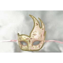 Pink Cigno Fiore Gold - Swan Shaped Carnival Masks