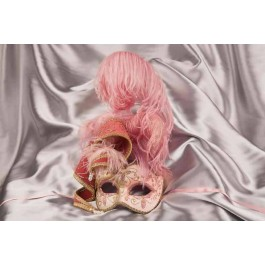 Luxury feathered ladies ball mask - pink