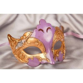 Lilac Giglio Gold - Gold Leaf and Music Note Detail Masks