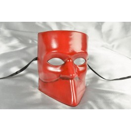 One colour Venetian Bauta Mask in red