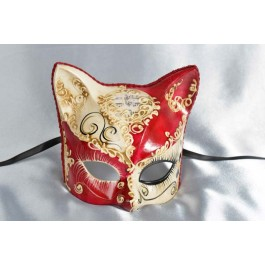 Red Gattino Love Me - Kitten Mask with Heart Decoration