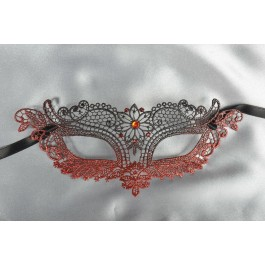 Red lace mask