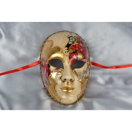 Red volto mask