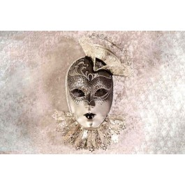 black and silver grand entrance show home wall mask