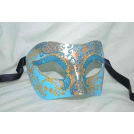 Turquoise Colombina Settecento Brill Gold - The Best all Round Unisex Mask