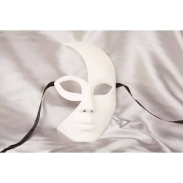 blank masquerade Mask to decorate - Luna