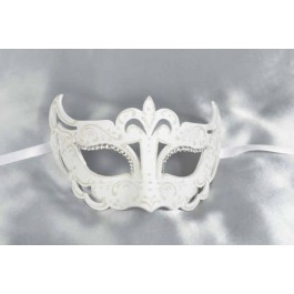 White Angelo Strass - Ladies Luxury Mask with Crystal Eyes