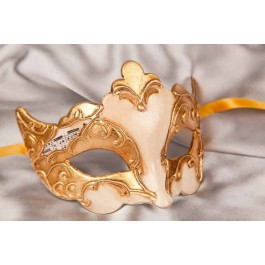 Cream Giglio Gold - Gold Leaf and Music Note Detail Masks