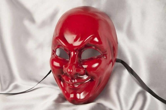 red full face joker mask