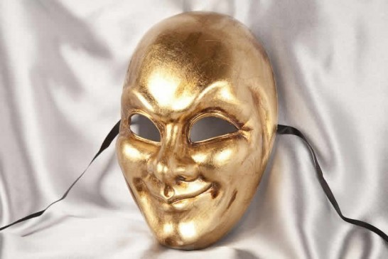 Gold full face joker mask