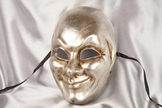 silver full face joker mask
