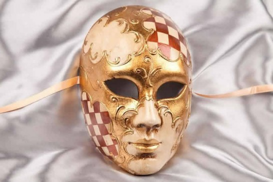 Brown Volto Scacchi - Full Face Masks with Diamond Pattern