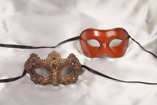 Brown Colo Mac - Luxury Venetian Masquerade Masks for Couples