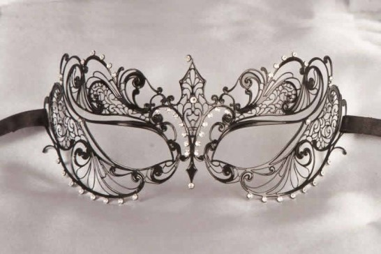 Black Bernice Lux - Luxury Lace Metal Mask for Women