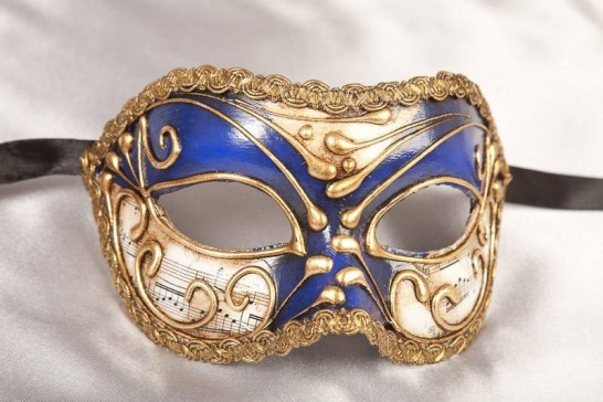 Blue Vivian Music Gold - Eye Mask for the Larger Man