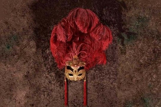 Luxury bespoke Venetian masks with feathers - Anna