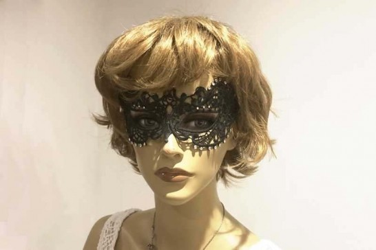 Fifty Shades Mask on Model