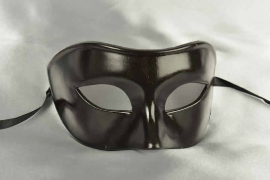 black Colombina masquerade ball mask