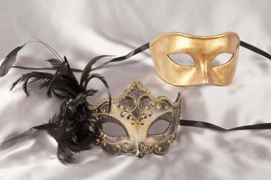 black gold couples masquerade ball masks