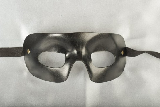 Quadra black leather mask