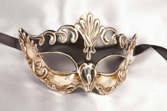 Madam Music - Silver Leafed Masks for Women