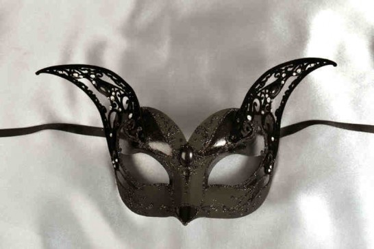 Luxury black cat mask