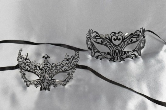 Black lace masks for men and women