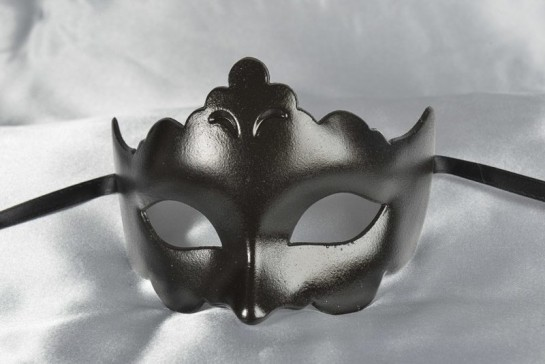 Plain and simple carnival masquerade mask in black