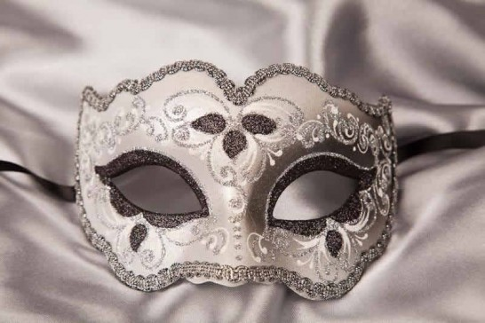 black and silver mask - Iris