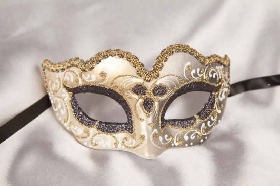 Black Baby Fiore Gold - Small Carnival Masks