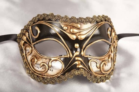 Vivian Music Gold - Eye Mask for the Larger Man