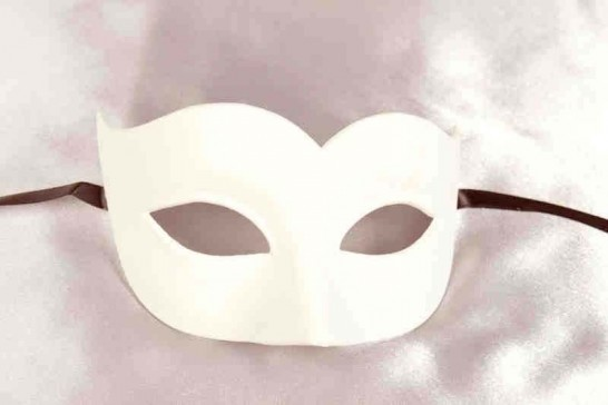 Sweetheart blank masquerade mask for decorating