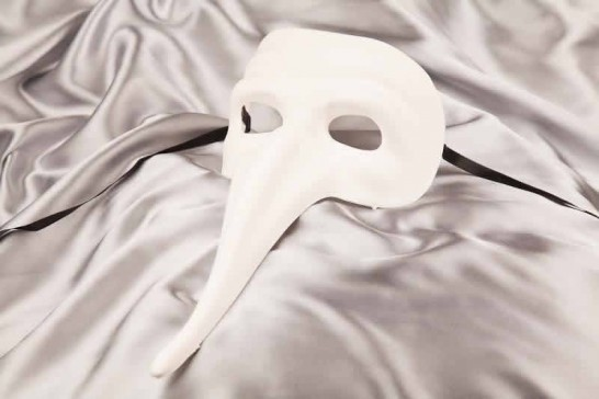 Blank Masks to Decorate - long nose Venetian character mask - Scaramouche