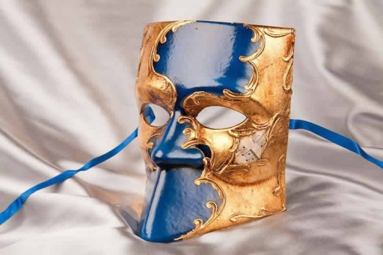 side view of Bauta mask