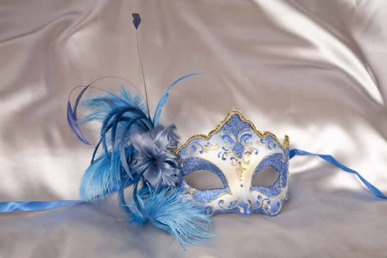 blue feathered mask - Daniela Gold