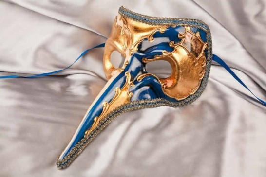 Blue Big Nose Venetian Masks for Men
