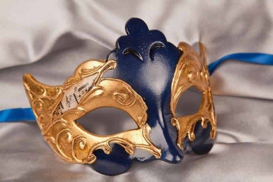 Blue Giglio Gold - Gold Leaf and Music Note Detail Masks