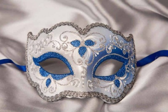 blue and silver mask - Iris