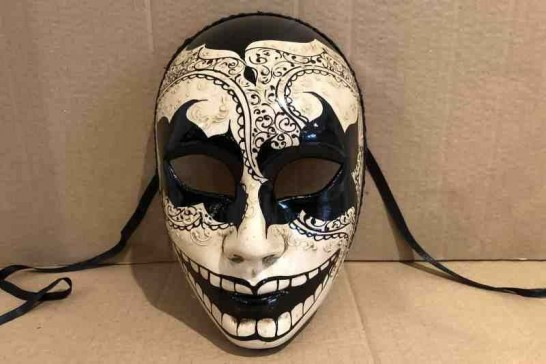 Notte Oscura Volto - Dark Night Full Face Halloween Mask