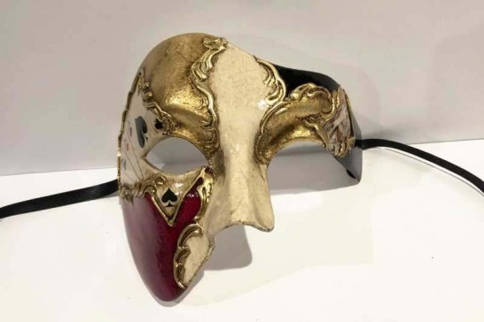 Poker decorated Phantom masquerade mask